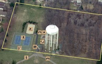 Haverhill Park Small Aerial Map
