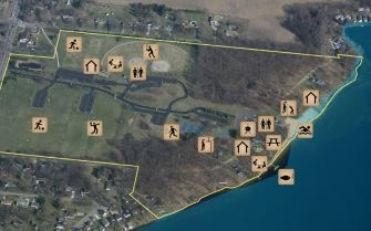 Ramona Park and Beach Small Aerial Map