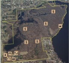 West Lake Nature Preserve Aerial Map